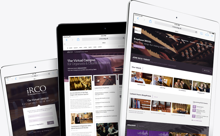 iPad friendly web design